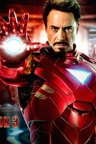 iPhone Wallpaper Iron Man 3, Robert Downey Jr. 2013 movie