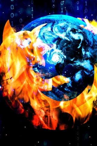 iPhone Papéis de Parede Mozilla Firefox navegador, logo design criativo