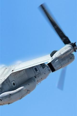 iPhone Wallpaper V-22 Osprey transport aircraft flight