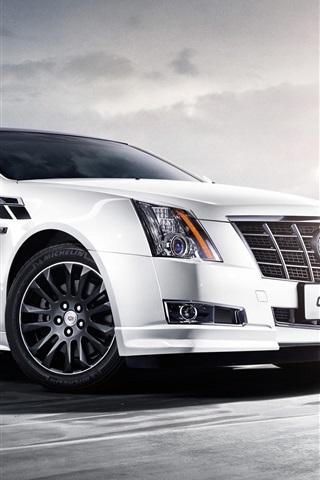 iPhone Wallpaper 2013 Cadillac CTS Vday white car