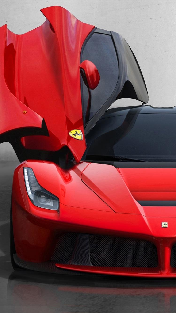 Ferrari Laferrari 2013 Butterfly Door 750x1334 Iphone 8 7 6 6s Wallpaper Background Picture Image