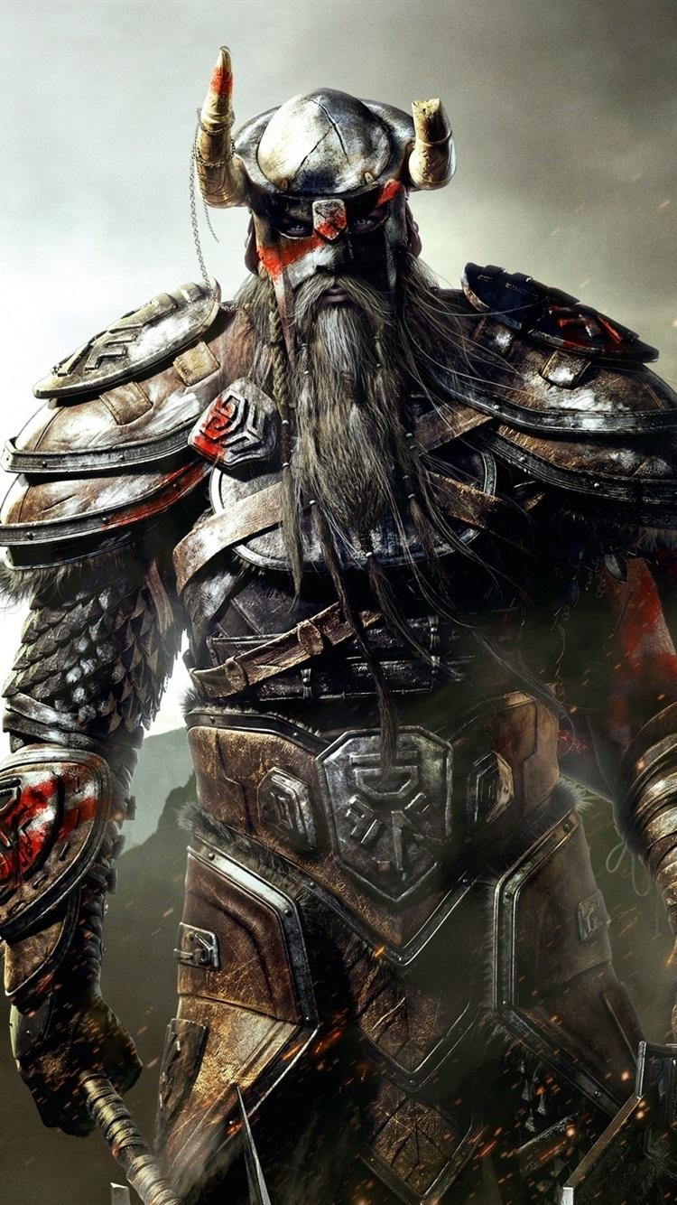 The Elder Scrolls Online Viking Armor Sword 750x1334 Iphone 8 7