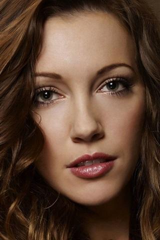 iPhone Wallpaper Arrow, TV series, actress Katie Cassidy
