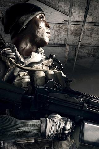 iPhone Wallpaper Battlefield 4, soldiers in the room