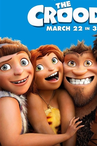 iPhone Wallpaper DreamWorks movie, The Croods