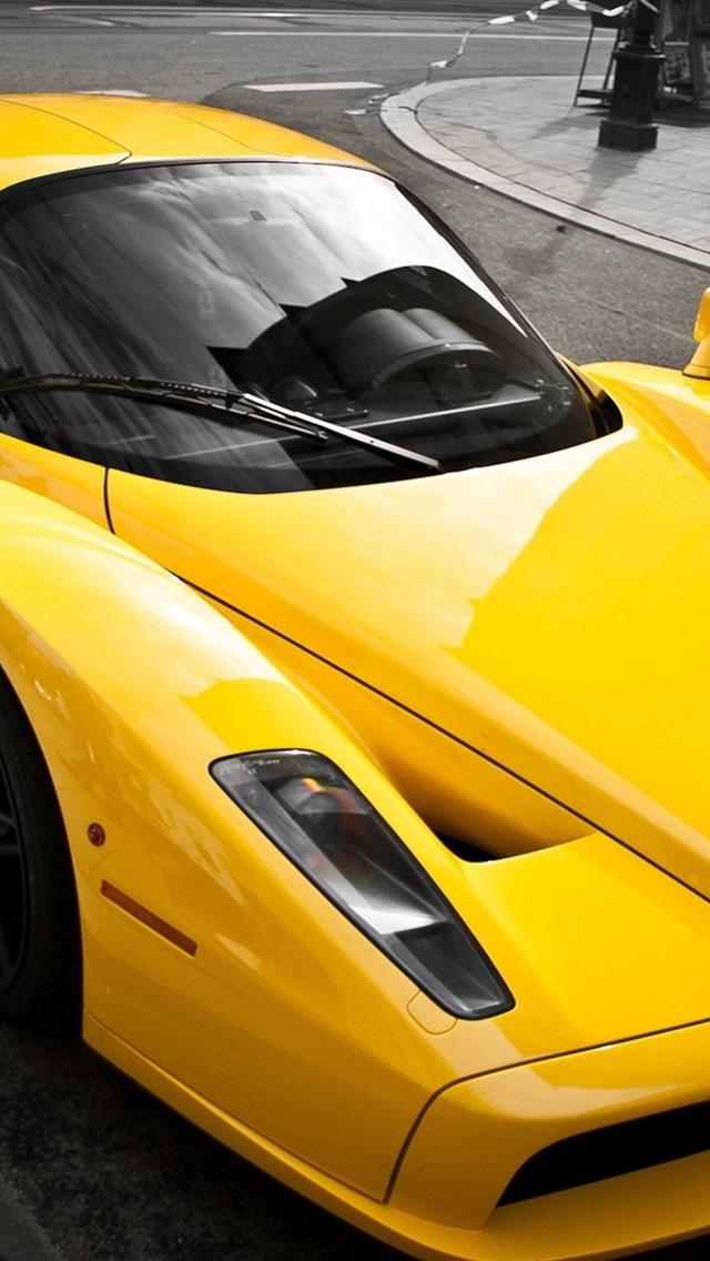 Ferrari Enzo Luxo Amarelo Supercarro 640x1136 Iphone 5 5s 5c Se Papeis De Parede