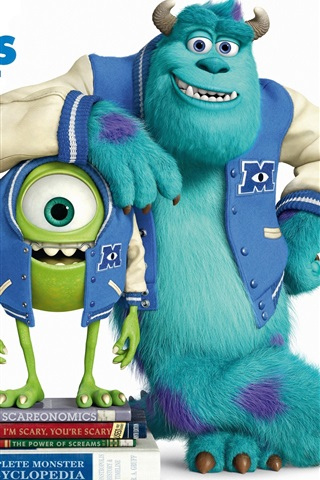 iPhone Wallpaper Pixar cartoon, Monsters University