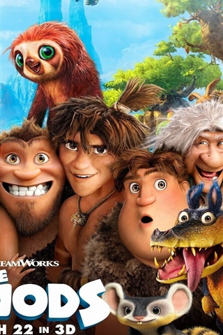 iPhone Wallpaper The Croods HD movie
