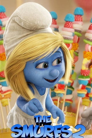 iPhone Wallpaper The Smurfs 2