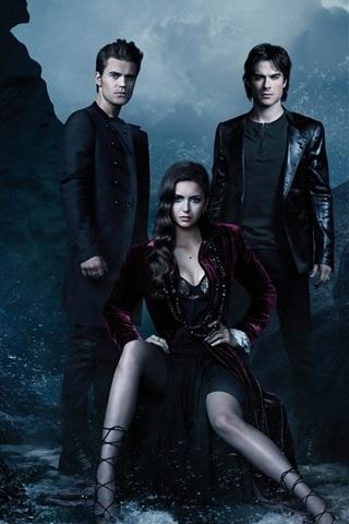 iPhone Wallpaper The Vampire Diaries, TV series, season 4 HD