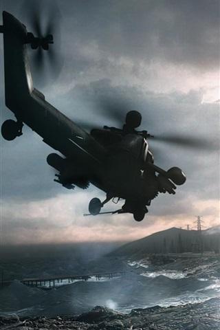 iPhone Papéis de Parede Battlefield 4 helicóptero