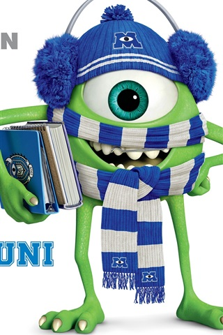 iPhone Wallpaper Monsters University, Strange one-eyed Mike