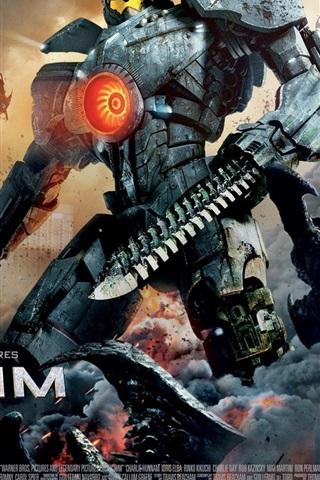 iPhone Wallpaper Pacific Rim, the robot hero