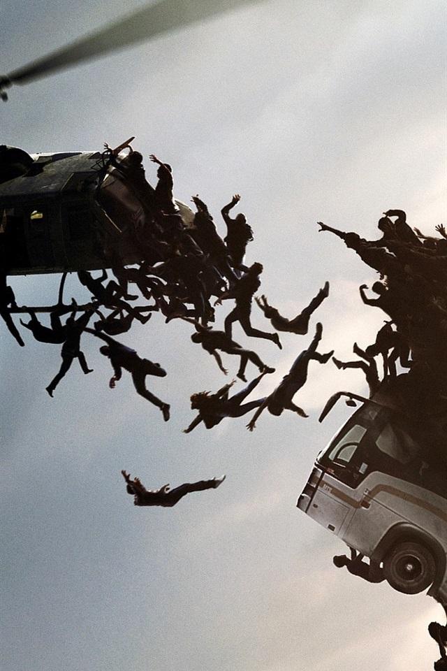 2013 movie, World War Z 640x960 iPhone 4/4S wallpaper