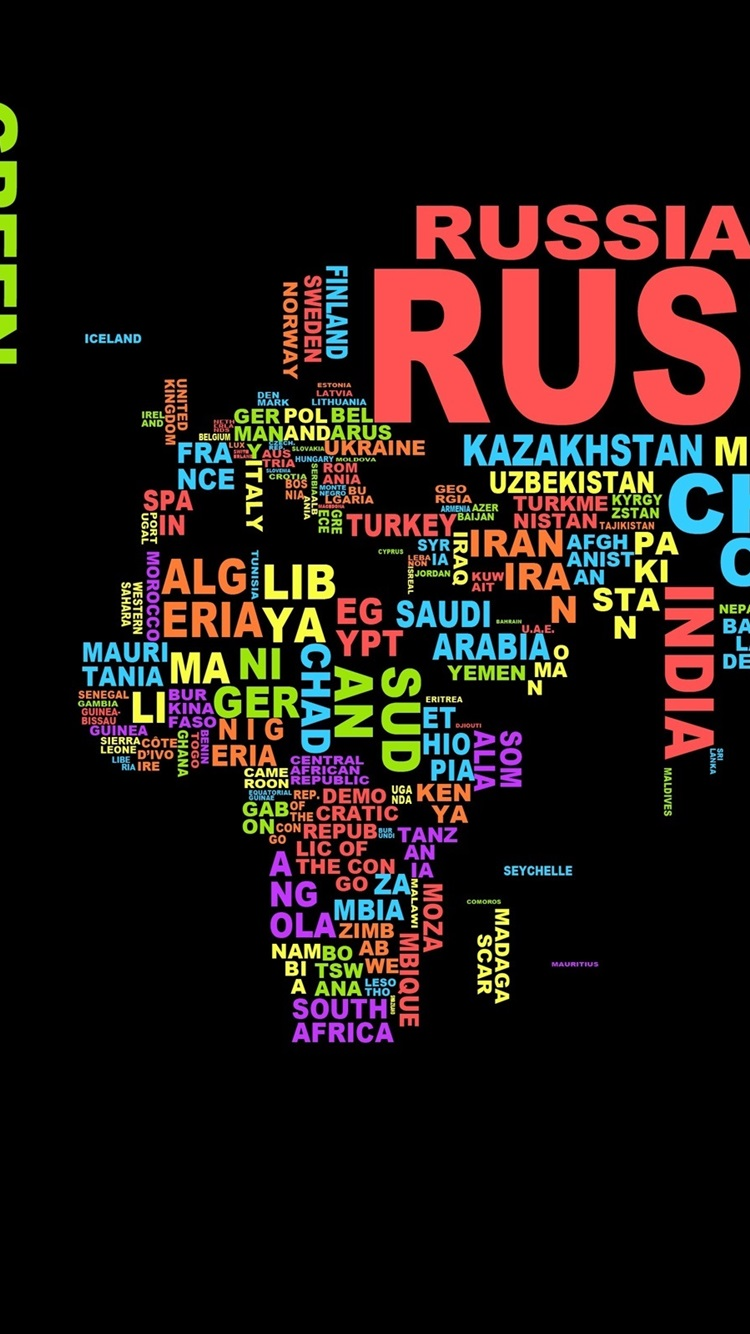 Wallpaper Creative Pictures World Map With Text 2560x1600 Hd