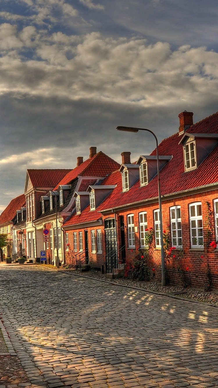 Wallpaper Europe Buildings Houses Street Autumn Morning 2560x1600 Hd Picture Image