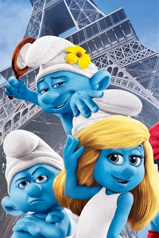 iPhone Wallpaper The Smurfs 2 movie 2013