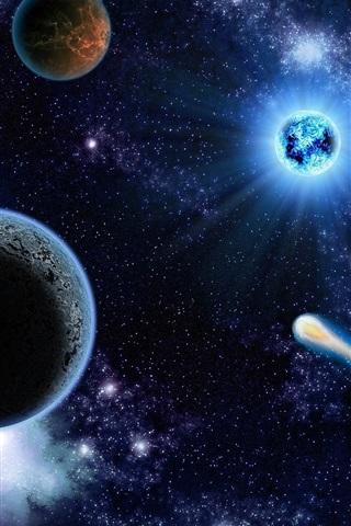 iPhone Papéis de Parede Espaço cósmico bonito, planetas, estrelas