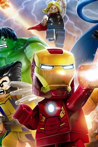 iPhone Wallpaper Lego Marvel Super Heroes