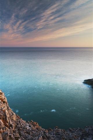 iPhone Wallpaper Pembroke, south Wales, coast, sea, rocks