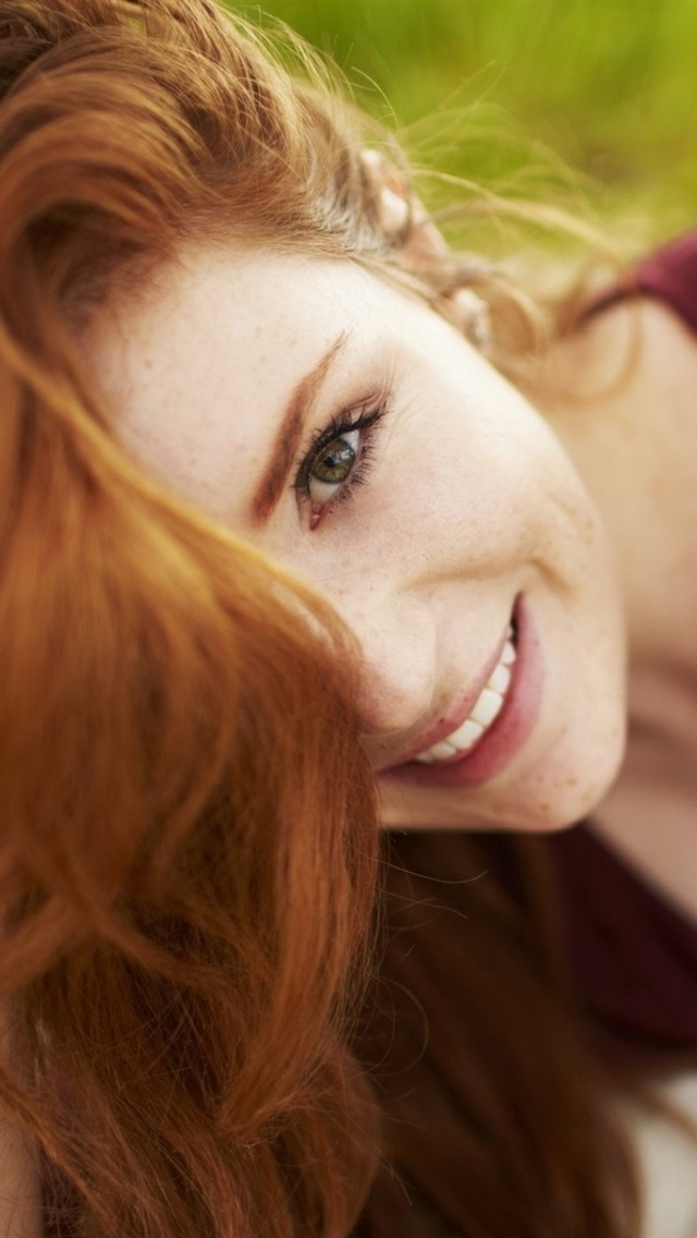 Wallpaper Freckled Red Hair Girl Smile 1920x1200 Hd