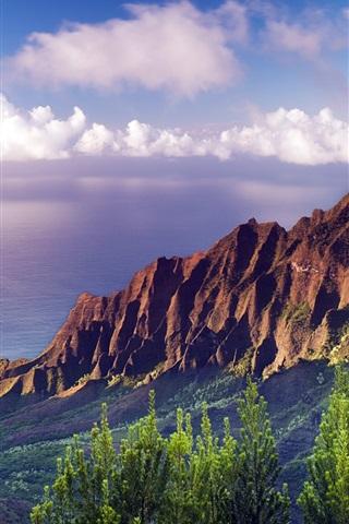 iPhone Wallpaper Na Pali Coast State Park sunset at Hawaii