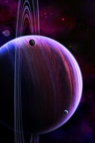 iPhone Wallpaper Art pictures, space, planets, stars