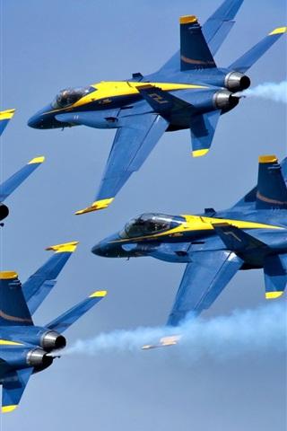 iPhone Wallpaper Blue Angels Aircraft