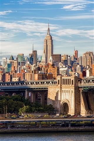 Brooklyn Bridge Manhattan New York City Gebäude 750x1334
