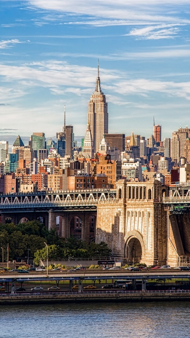 Wallpaper Brooklyn Bridge Manhattan New York City