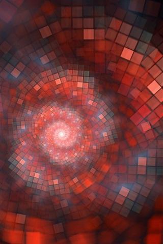 iPhone Papéis de Parede Canal sonho, vermelho, cores, forma, abstração