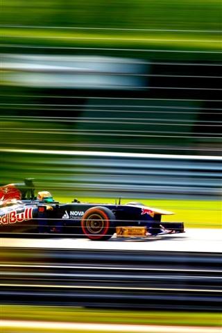 iPhone Wallpaper Formula One, F1 race, high speed