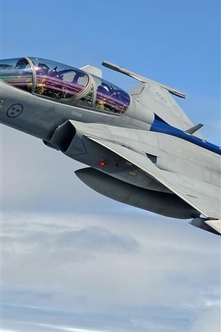 iPhone Wallpaper JAS 39 Gripen multi-purpose fighter