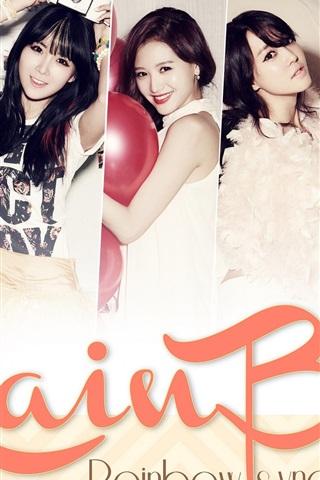 iPhone Wallpaper Rainbow Korean music girls 01
