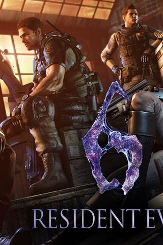 iPhone Papéis de Parede Resident Evil 6 jogo HD
