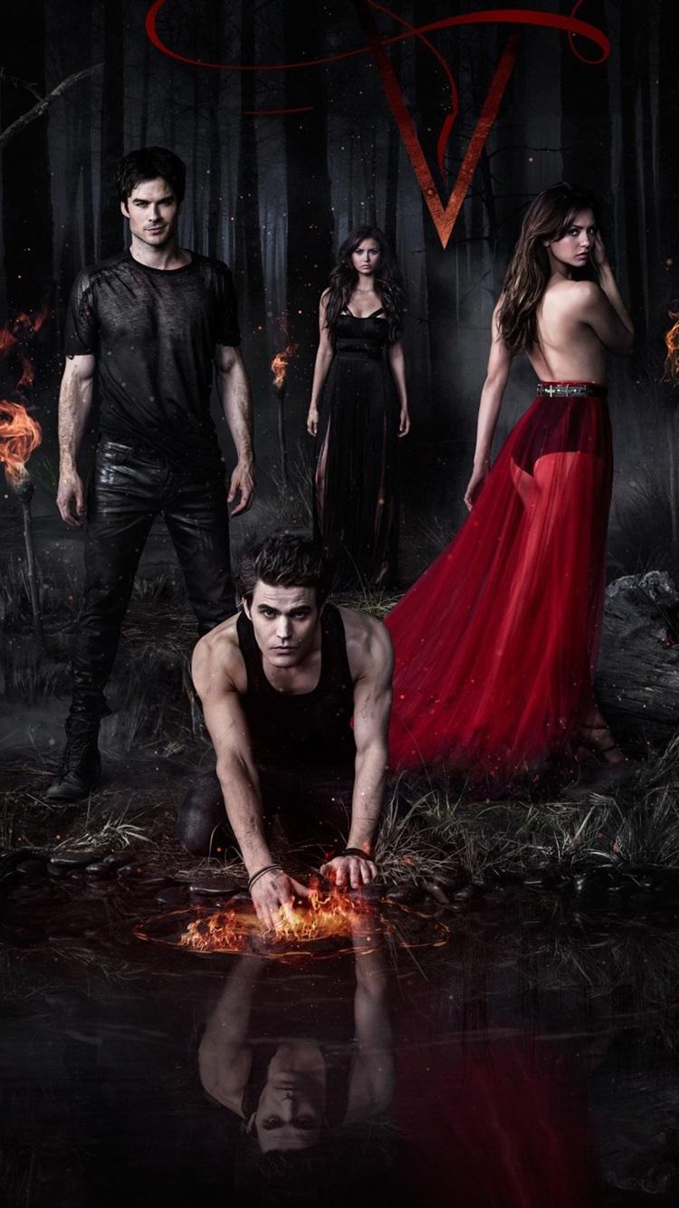 The Vampire Diaries 2013 750x1334 Iphone 8 7 6 6s Wallpaper