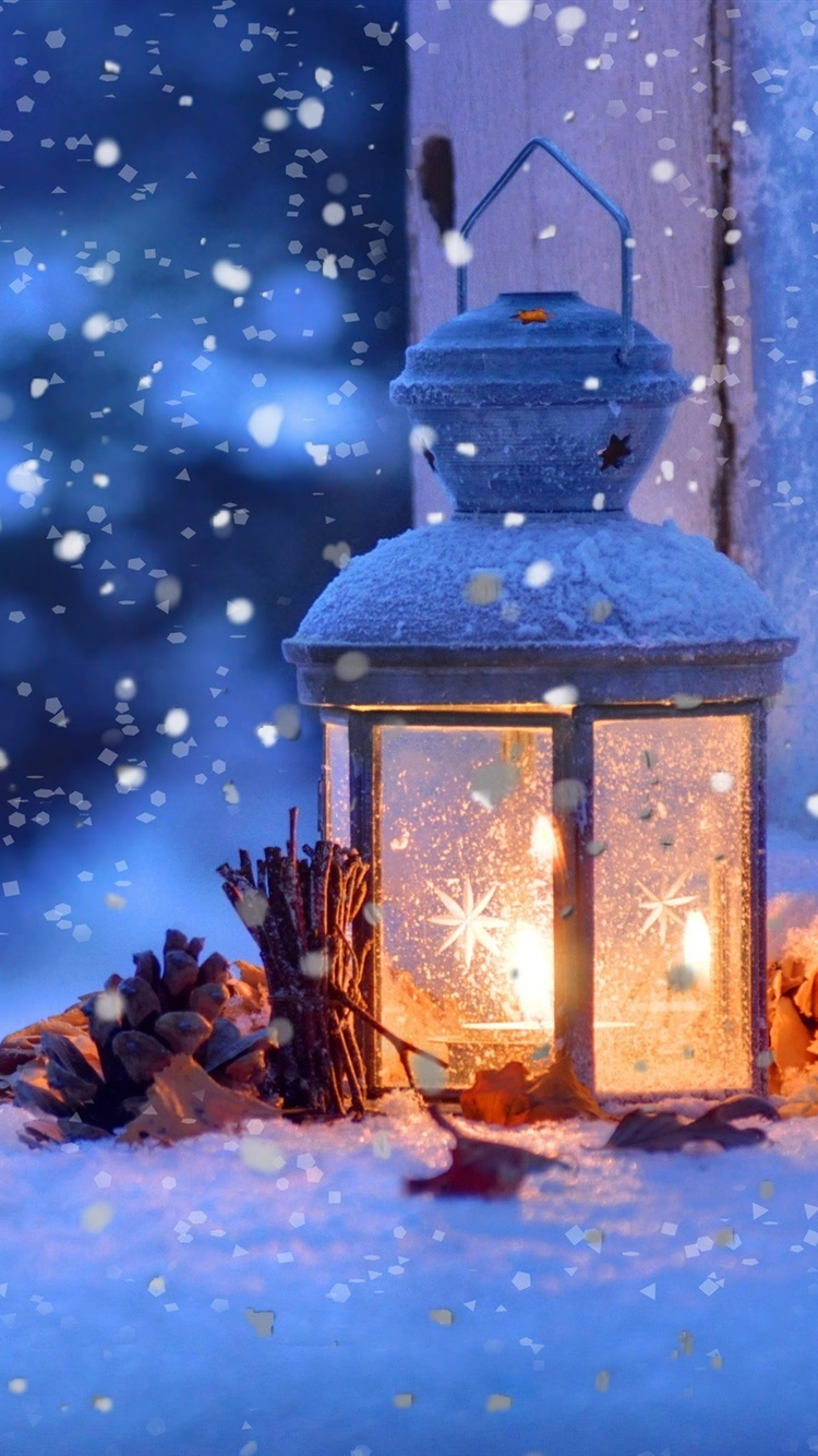 Christmas Snow Winter Light Snowflakes 750x1334 Iphone 8 7 6 6s