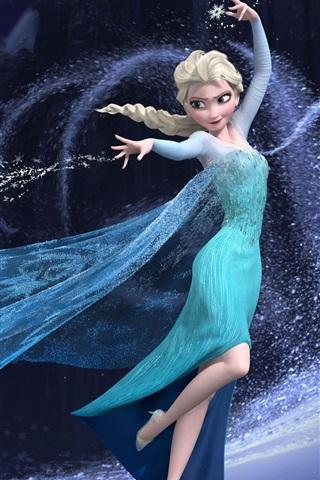iPhone Wallpaper Frozen, beautiful girl Elsa