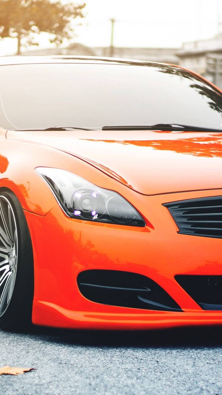 Infiniti G35 Orange Car 750x1334 Iphone 8 7 6 6s Wallpaper Background Picture Image