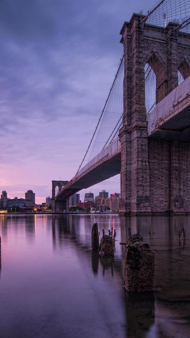 Wallpaper New York Usa Brooklyn Bridge 1920x1440 Hd