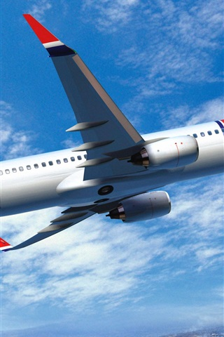 iPhone Wallpaper Norwegian Air, Boeing 737 Airplane