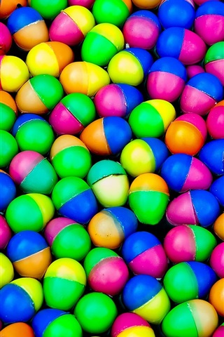 iPhone Wallpaper Colorful plastic eggs