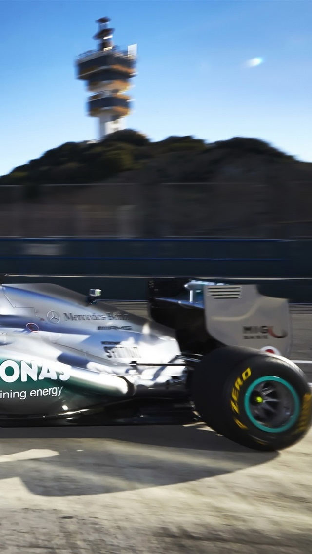 Formula 1 F1 Mercedes Benz Race Car 640x1136 Iphone 5 5s 5c Se Wallpaper Background Picture Image