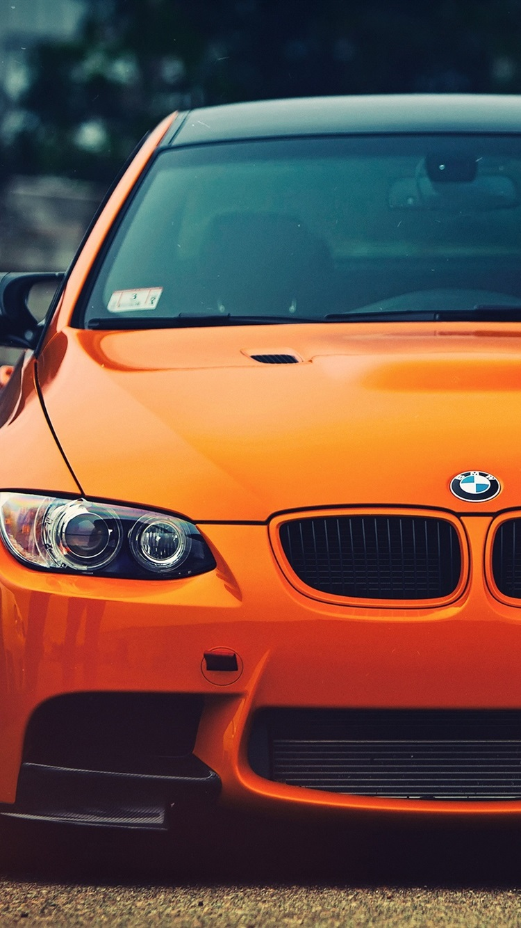 Bmw M3 Orange Car Front View 750x1334 Iphone 8766s