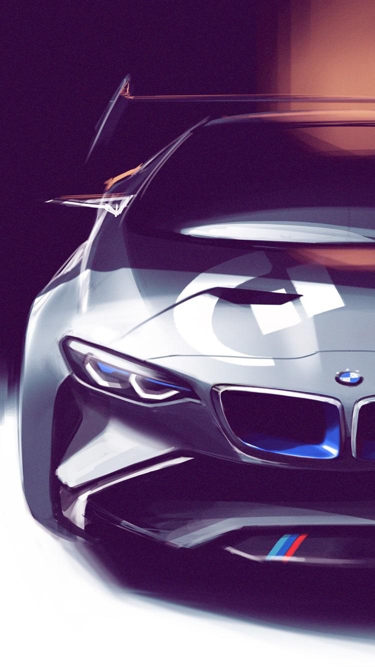 Bmw Concept Car Art Drawing 750x1334 Iphone 8 7 6 6s Wallpaper