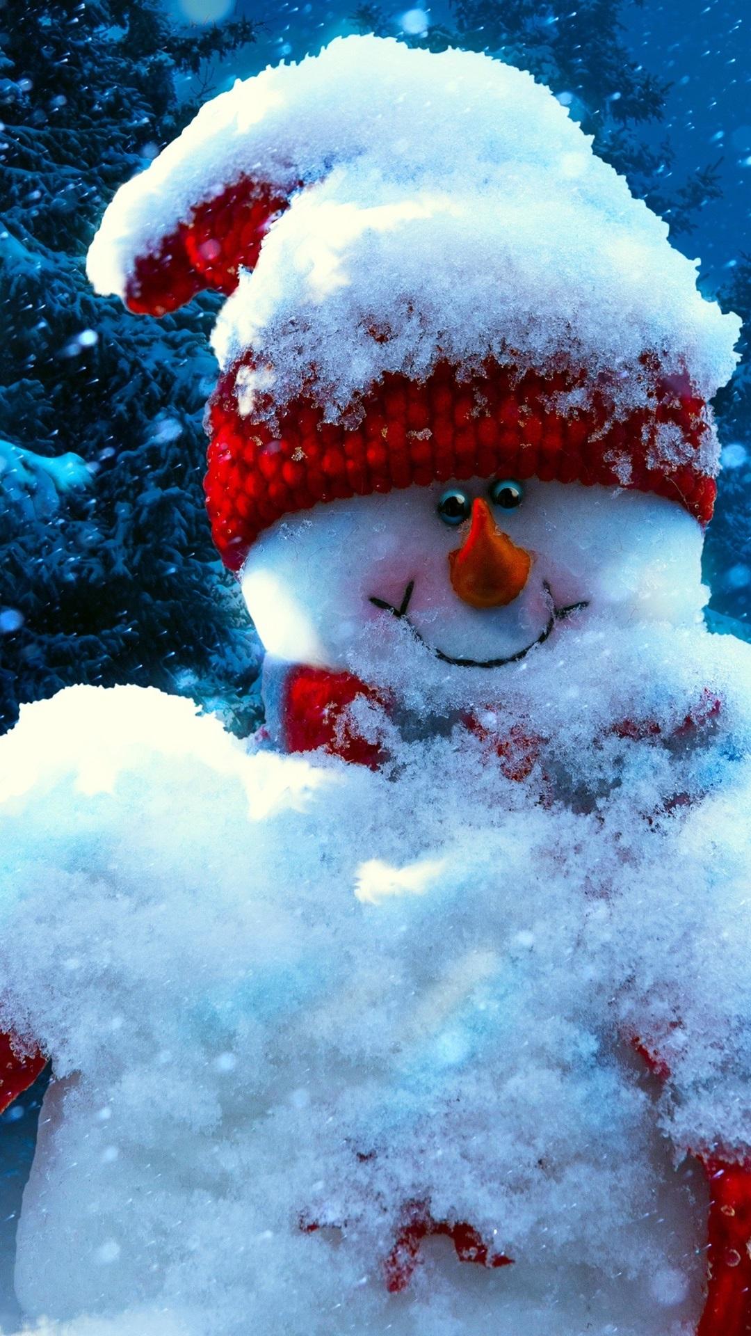 クリスマス 正月 雪だるま 冬 1080x1920 Iphone 8 7 6 6s Plus 壁紙