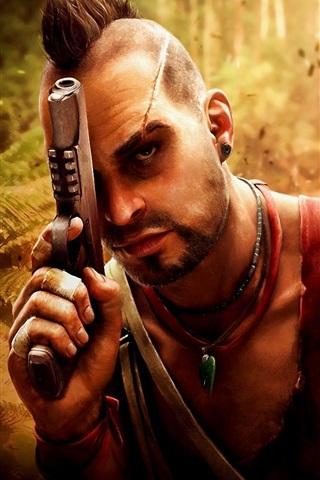 iPhone Papéis de Parede Far Cry 3, pistola, selva