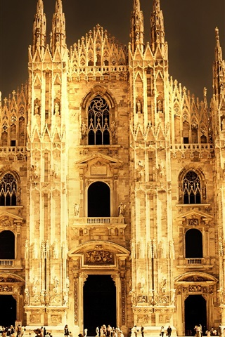 iPhone Wallpaper Italy, Milan, Cathedral
