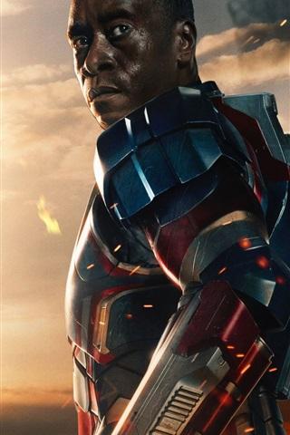iPhone Wallpaper James Rhodes in Iron Man 3