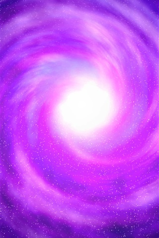 iPhone Wallpaper Violet, space, black hole, stars